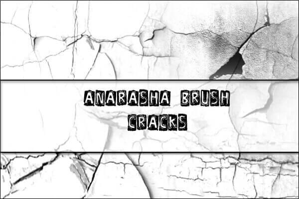 フォトショップ ブラシ Photoshop Brush 無料 イラスト クラック ひび割れ ヒビ 亀裂 壁 Cracks Brush