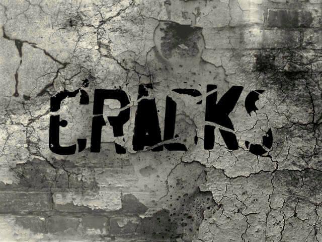 フォトショップ ブラシ Photoshop Brush 無料 イラスト クラック ひび割れ ヒビ 亀裂 壁 Cracks Brushes