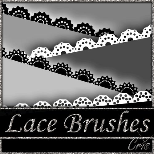 フォトショップ ブラシ Photoshop Lace Brush 無料 イラスト レース Cris Lace Brushes