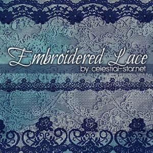 フォトショップ ブラシ Photoshop Lace Brush 無料 イラスト レース Embroidered Lace