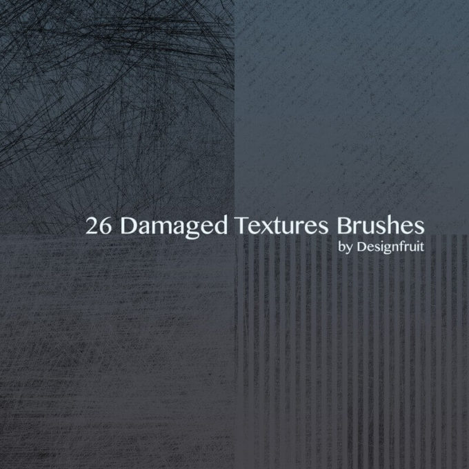 フォトショップ ブラシ Photoshop Retro Vintage Brush 無料 イラスト ヴィンテージ レトロ Damaged Textures Brushes