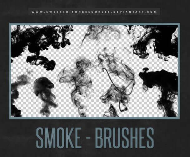 フォトショップ ブラシ Photoshop Brush 無料 イラスト 煙 スモーク Dark Smoke