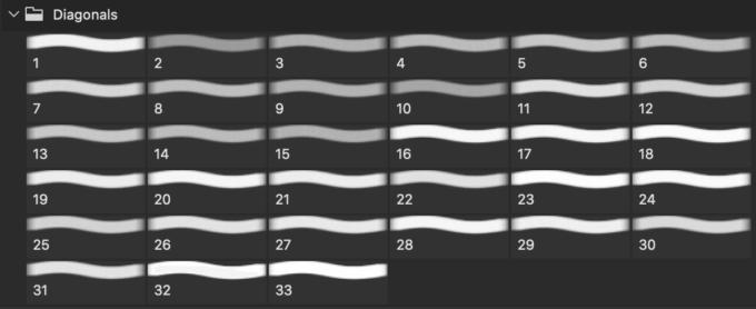 フォトショップ ブラシ Photoshop Pattern Brush 無料 イラスト 模様 パターン Diagonal Line Pattern Brushes