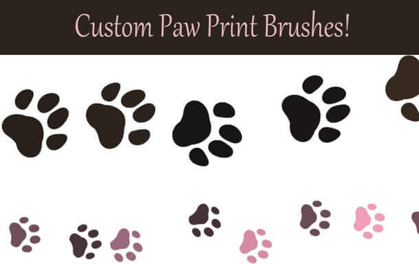 フォトショップ ブラシ Photoshop Animal Brush 無料 イラスト 犬 足跡 Dog Paws