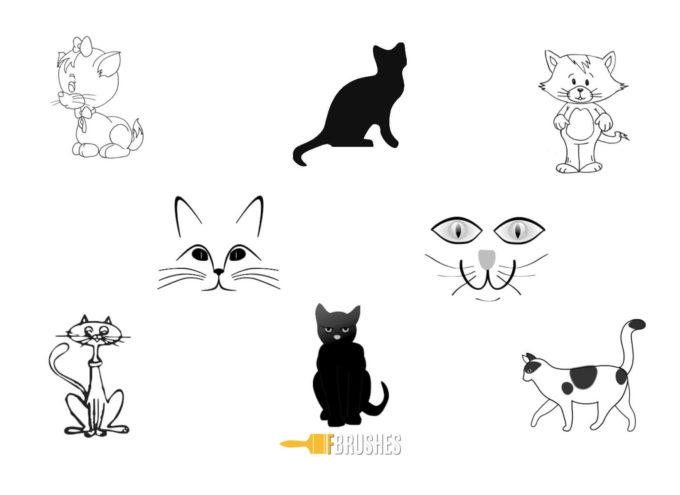 フォトショップ ブラシ Photoshop cat Kittie Brush 無料 イラスト 猫 キャット Drawn Kitties