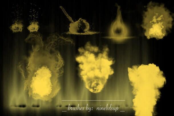 フォトショップ ブラシ Photoshop Brush 無料 イラスト 火 炎 ファイヤー Explosive Fire