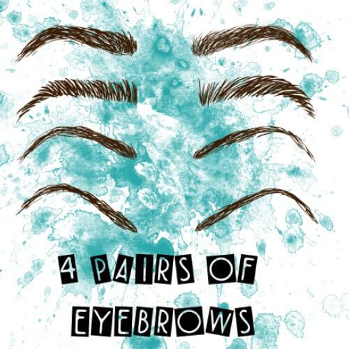 フォトショップ ブラシ テクスチャ キャンパス Photoshop Brush 無料 イラスト 毛 髪の毛 眉毛 Eyebrow Brushes