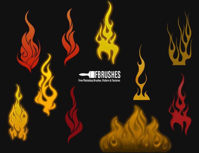 フォトショップ ブラシ Photoshop Brush 無料 イラスト 火 炎 ファイヤー Fire