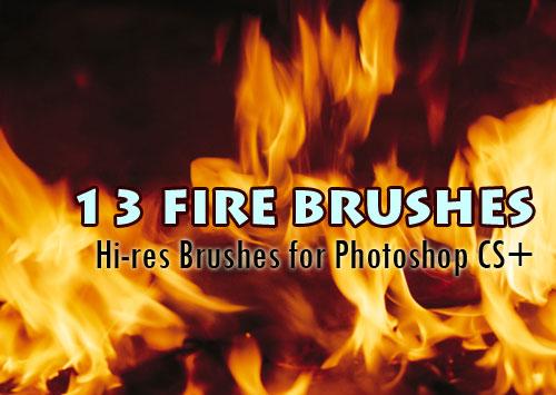 フォトショップ ブラシ Photoshop Brush 無料 イラスト 炎 火 ファイヤー Fire Brushes