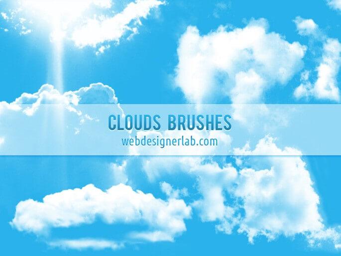 フォトショップ ブラシ Photoshop Brush 無料 イラスト 雲 クラウド Free Clouds Brushes