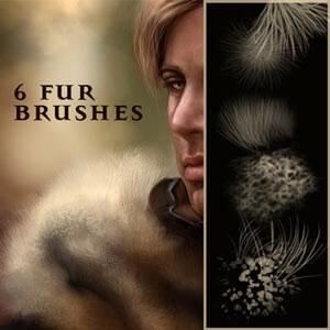 フォトショップ ブラシ テクスチャ キャンパス Photoshop Brush 無料 イラスト 毛 髪の毛 毛皮 Fur Brushes