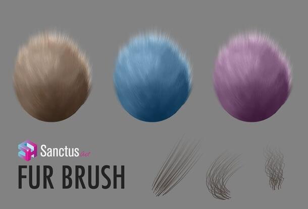フォトショップ ブラシ テクスチャ キャンパス Photoshop Brush 無料 イラスト 毛 髪の毛 毛皮 Fur-Brush