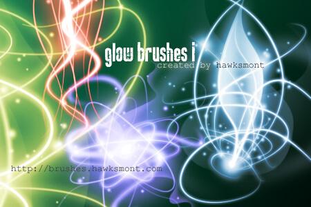フォトショップ ブラシ Photoshop Brush 無料 イラスト 光 ビーム グリッター スパーク パーティクル Glow Brushes I
