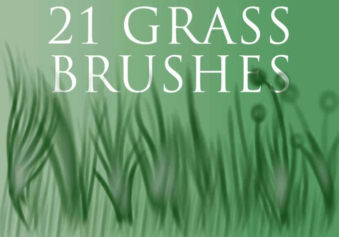 フォトショップ ブラシ Photoshop Brush 無料 イラスト 草 雑草 植物 葉 プランツ Grass Brushes