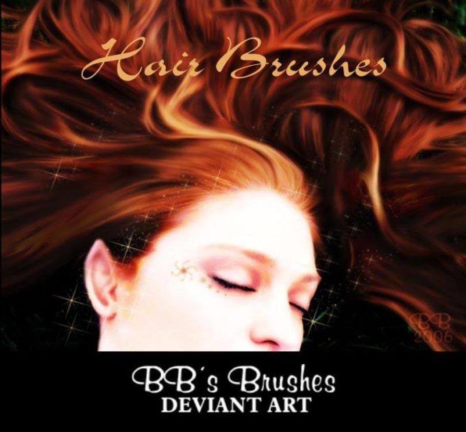 フォトショップ ブラシ テクスチャ キャンパス Photoshop Brush 無料 イラスト 毛 髪の毛 Hair Brushes