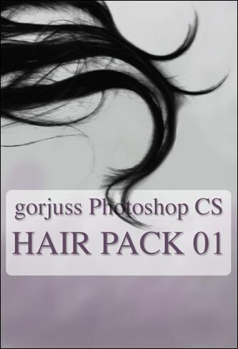 フォトショップ ブラシ テクスチャ キャンパス Photoshop Brush 無料 イラスト 毛 髪の毛 Photoshop HAIR brushes pack 01