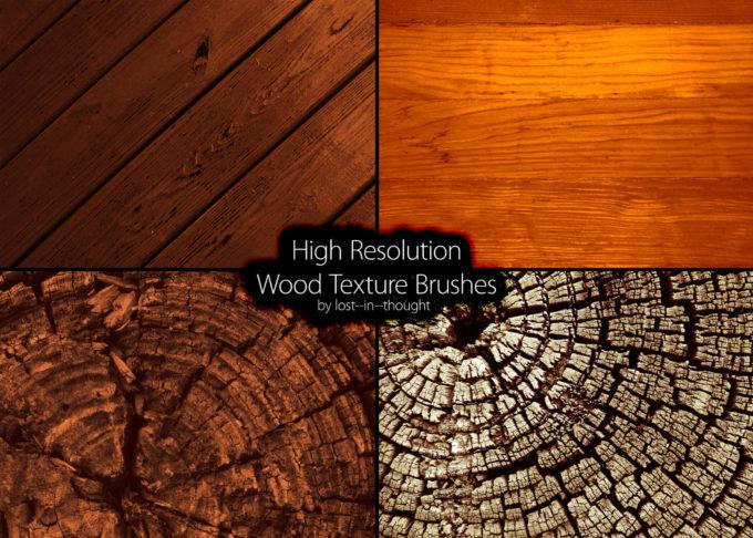 フォトショップ ブラシ Photoshop Brush 無料 イラスト 木 ウッド 木目 Hi-Res Wood Brush Set