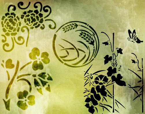 フォトショップ ブラシ Photoshop Japanese Brush 無料 イラスト 和 和風 和柄 Japan Brushes