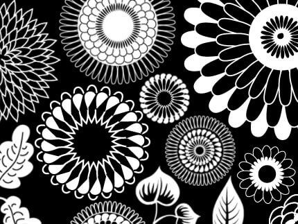 フォトショップ ブラシ Photoshop Japanese Brush 無料 イラスト 和 和風 和柄 和花 Japanese Style flowers
