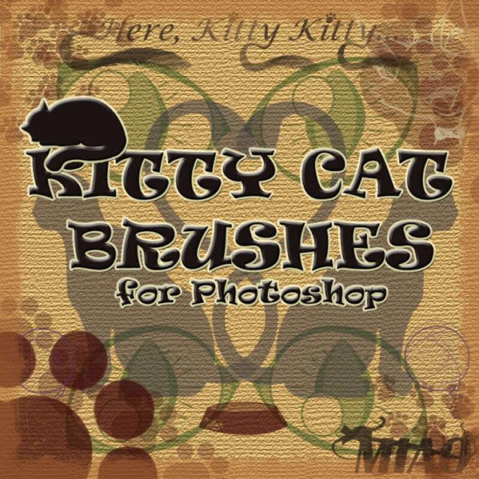 フォトショップ ブラシ Photoshop cat Kittie Brush 無料 イラスト 猫 キャット Kitty Cat Brushe