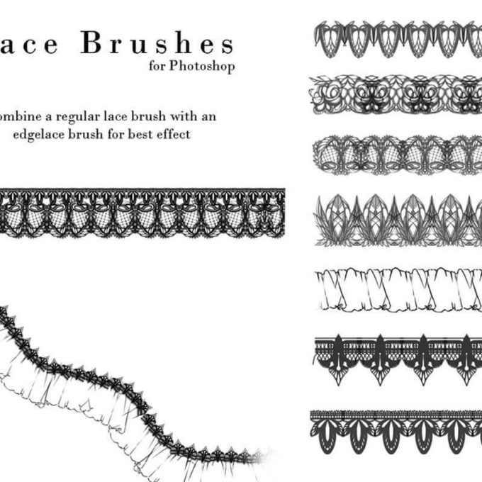 フォトショップ ブラシ Photoshop Lace Brush 無料 イラスト レース Lace Photoshop Brushes