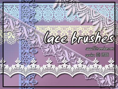 フォトショップ ブラシ Photoshop Lace Brush 無料 イラスト レース lace