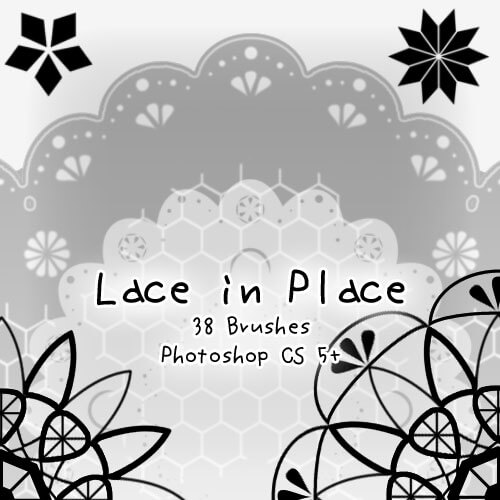フォトショップ ブラシ Photoshop Lace Brush 無料 イラスト レース Lace in Place