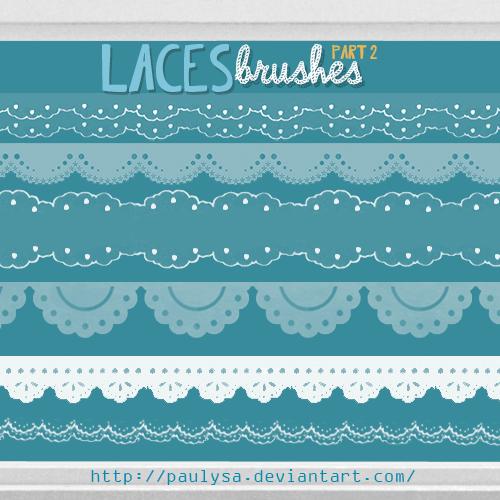 フォトショップ ブラシ Photoshop Lace Brush 無料 イラスト レース Laces Brushes Part2