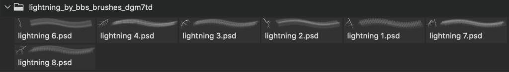 フォトショップ ブラシ テクスチャ キャンパス Photoshop Brush 無料 イラスト 雷 ライトニング lightning