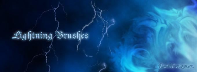 フォトショップ ブラシ テクスチャ キャンパス Photoshop Brush 無料 イラスト 雷 ライトニング Lightning Brushes v2