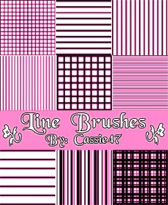 フォトショップ ブラシ Photoshop Pattern Brush 無料 イラスト 模様 パターン Line Pattern Brushes