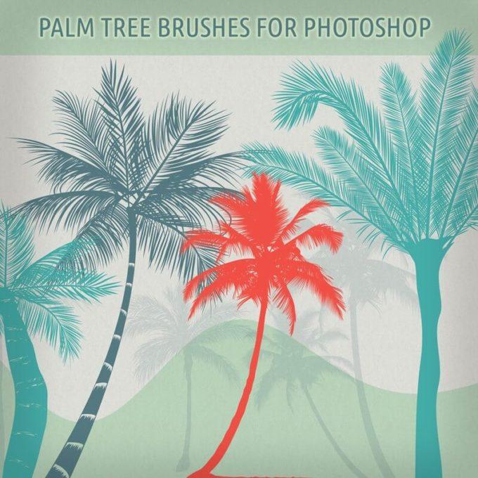 フォトショップ ブラシ Photoshop Brush 無料 イラスト 木 森 林 ハロウィーン Palm Trees Brushes for PS