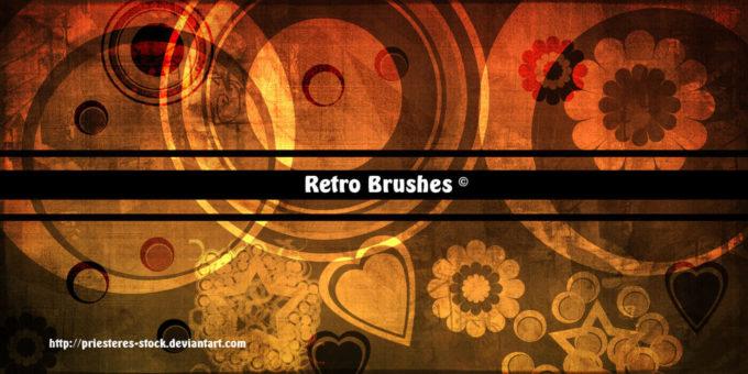 フォトショップ ブラシ Photoshop Retro Vintage Brush 無料 イラスト ヴィンテージ レトロ retro Brushes