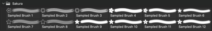 フォトショップ ブラシ Photoshop Japanese Brush 無料 イラスト 和 和風 和柄 桜 Sakura: Cherry Blossom Brushes