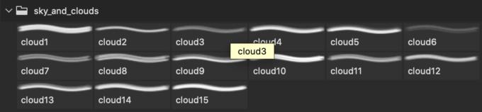 フォトショップ ブラシ Photoshop Brush 無料 イラスト 雲 クラウド Sky and Clouds Brushes