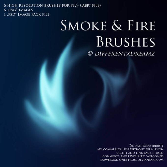 フォトショップ ブラシ Photoshop Brush 無料 イラスト 煙 スモーク Smoke and Fire Brushes