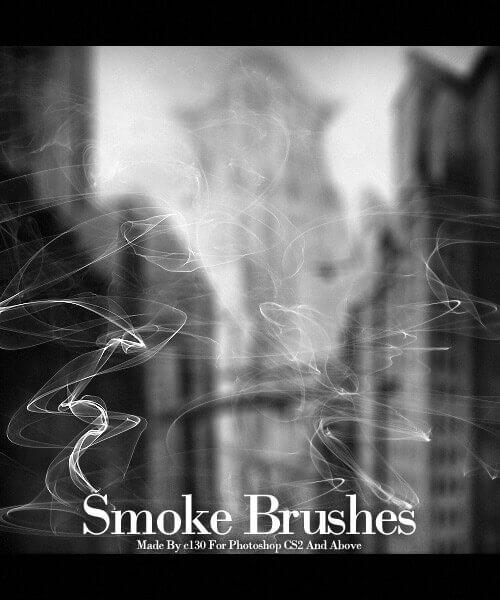 フォトショップ ブラシ Photoshop Brush 無料 煙 スモーク イラスト Smoke Brushes