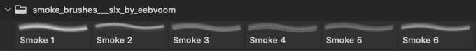 フォトショップ ブラシ Photoshop Brush 無料 イラスト 煙 スモーク 6 Smoke Brushes