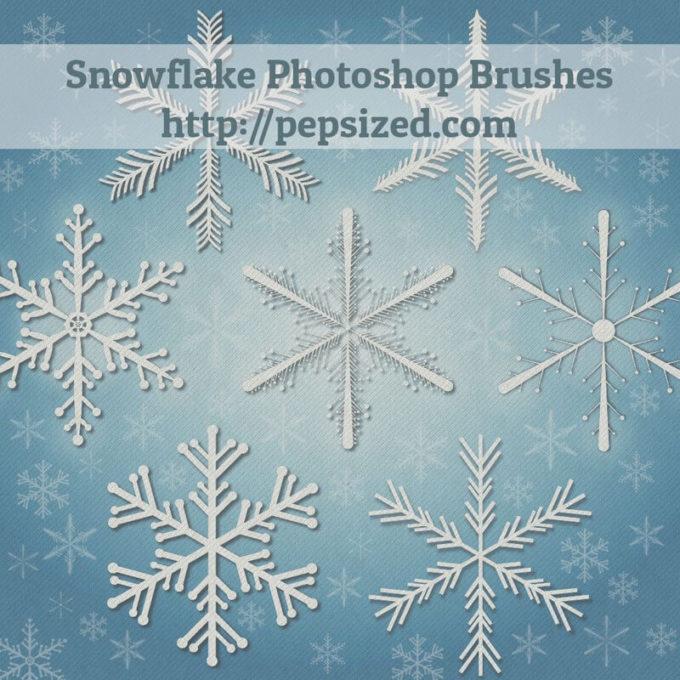 フォトショップ ブラシ Photoshop Brush 無料 イラスト クリスマス 聖夜 サンタ 雪 結晶 Snowflake Photoshop Brushes