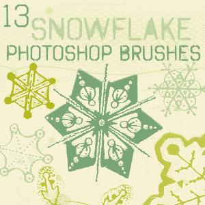 フォトショップ ブラシ Photoshop Brush 無料 イラスト クリスマス 聖夜 冬 雪 スノーフレーク 結晶 Snowflake Brushes
