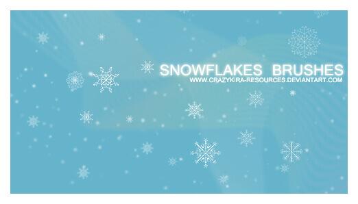 フォトショップ ブラシ Photoshop Brush 無料 イラスト クリスマス 聖夜 冬 雪 スノーフレーク 結晶 Snowflakes Brushes