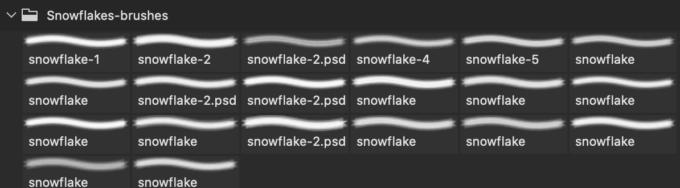 フォトショップ ブラシ Photoshop Brush 無料 イラスト クリスマス 聖夜 冬 雪 結晶 スノーフレーク 20 Snowflake Brushes