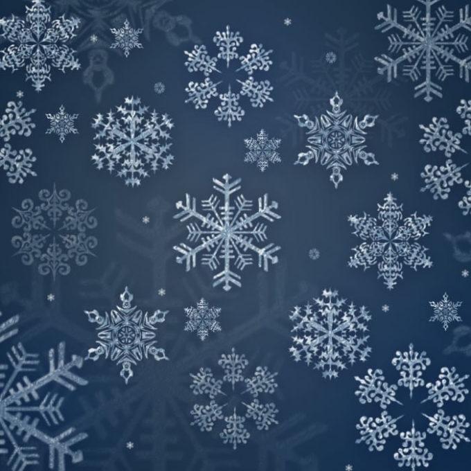 フォトショップ ブラシ Photoshop Brush 無料 イラスト クリスマス 聖夜 冬 雪 結晶 スノーフレーク 12 Snowflakes Brushes