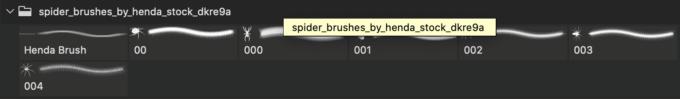 フォトショップ ブラシ Photoshop Brush 無料 クモ クモの巣 蜘蛛 スパイダー Spider Brushes