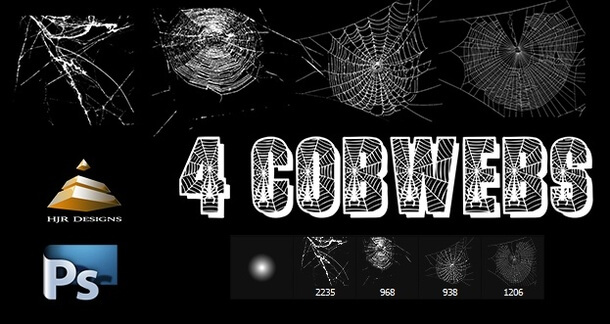 フォトショップ ブラシ Photoshop Brush 無料 クモ クモの巣 蜘蛛 スパイダー Spider Web Brushes Set
