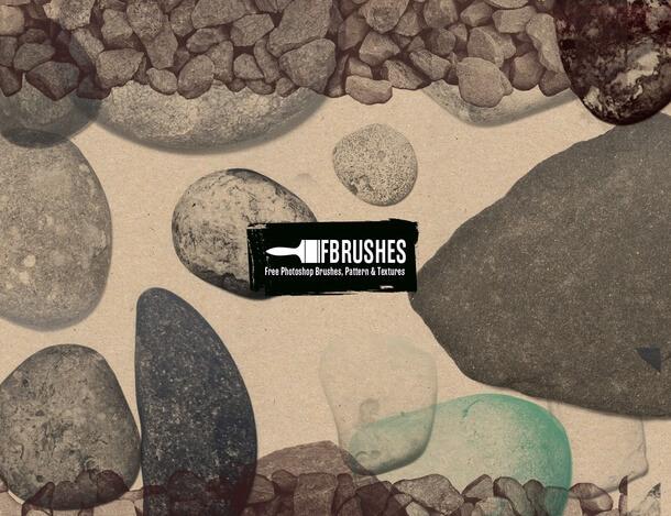 フォトショップ ブラシ Photoshop Brush 無料 イラスト ロック 岩 石 ストーン   Stones