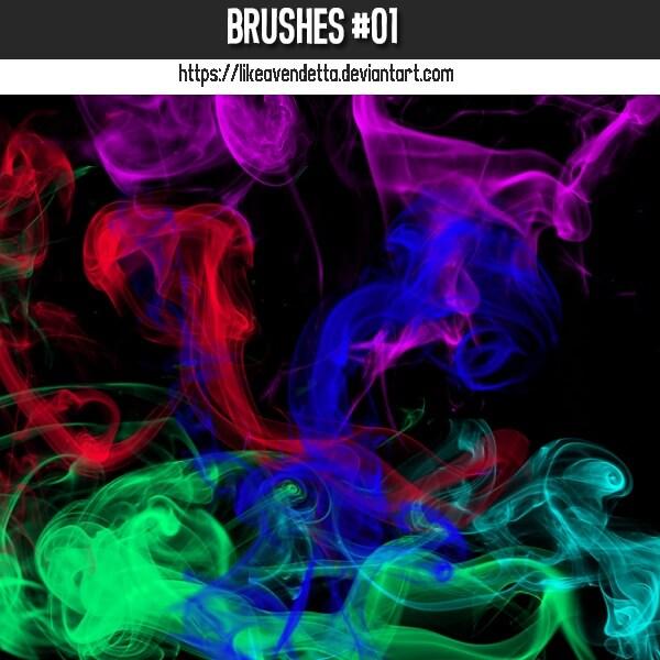 フォトショップ ブラシ Photoshop Brush 無料 イラスト 煙 スモーク Techno Smoke
