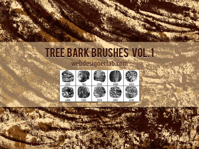 フォトショップ ブラシ Photoshop Brush 無料 イラスト 木 ウッド 木目 Tree Bark Brushes