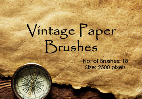 フォトショップ ブラシ Photoshop Retro Vintage Brush 無料 イラスト ヴィンテージ レトロ 18 Vintage Papers Photoshop Brushes