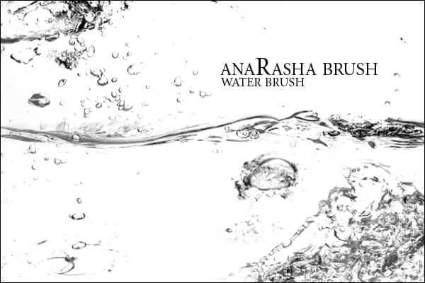 フォトショップ ブラシ Photoshop Brush 無料 水 ウォーター イラスト water_brush